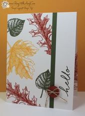 Stampin Up Vintage Leaves Cas Thanks And Hello Online