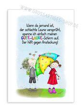 "Postkarte ""Gute Laune Schirm"""