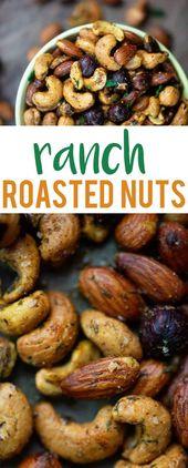 Ranch gebratene Nüsse! Dieser kleine Snack ist kohlenhydratarm und so einfach zuzubereiten! #lowcar …   – Keto