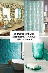 Photo of 20 Cute Mermaid Inspired Bathroom Dcor Ideas Shelterness with regard to Mermaid …