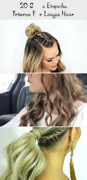 20 cute simple hairstyles for long hair