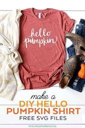 FREE Hello Pumpkin SVG Files – Fall SVG Cut File