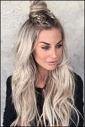 12+ Süße glatte Frisuren für langes Haar   Trend Bob Frisuren 2019  12+ cute … – uncategorized