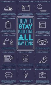 How To Stay Productive All Day – #Day #management …