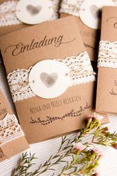 Invitations  DIY Braut Nina von Vervliest & Zugenäht - Hochzeitseinladung