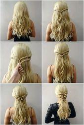 42 einfache und schnelle Frisuren für die Schule 4 – nothingideas.com   – Hair …