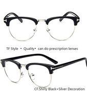 IVSTA TF 8015 Optische Rahmen Halbrand Brillen Rahmen für Männer Myopie Modemarke TF Benutzerdefinierte Nerd Übergroße Demi   – Eyewear Frames