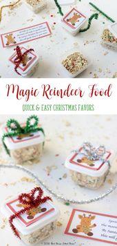 Magic Reindeer Food Favors – Vollständiges Tutorial und druckbares Gedicht – Holidays