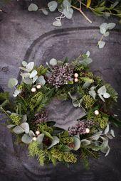 Weihnachtskranz: Ein Leitfaden für den modernen Kranz   – Weihnachten dekoration