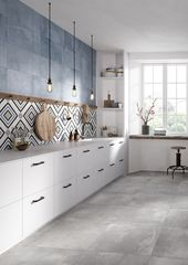 Porcelain stoneware wall / floor tiles with concrete …