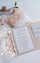 Design your own wedding invitations – design 40 ideas for wedding cards yourself