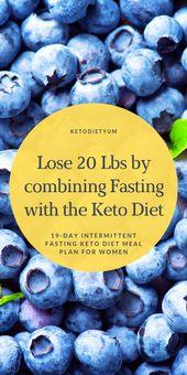 Menu diététique Keto de 19 jours et jeûne intermittent pour perdre du poids