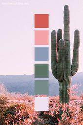Desert Sunset Cactus Flower Color Palette Inspiration –  #