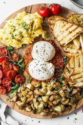 Burrata Breakfast Board | Family Style | Fork in the Kitchen 1