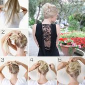 Easy Hair Do - Tutorial - bellashoot.com #Updo #Holidayhair #Blonde #Highlights #PrettyHair #Beauty