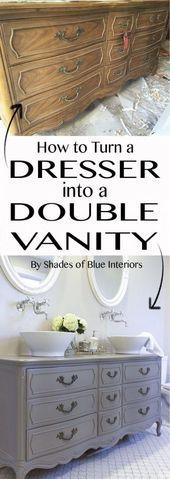 37 Modern renovierte Möbel DIY Vanity Master Bathroom #design #designer #designs