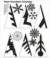 Diy papier schneeflocken muster schneeflocke 59+ ideen – DIY Papier Weblog