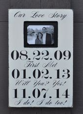 Custom Wedding Sign, Personalized Engagement Gift,Wedding Gift, Engagement Present, Bridal Shower Gift   – Misc