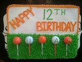 Golf Themed Sheet Cake Design – Kuchen unter dem Motto Golf   – gâteaux