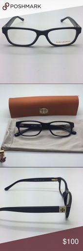 🆕 Tory Burch eyeglasses frames + case Tory Burch black eyeglasses frames. Siz… – My Posh Picks