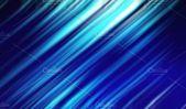Blue lights for futuristic background. Internet concept, movement motion blurry technology background. 3d illustration.