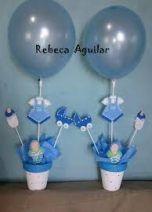 Centro De Mesa Para Baby Shower Varon Faciles : centro, shower, varon, faciles, Ideas, Shower, Centros, Varon, Shower,, Decorations, Neutral