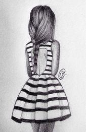 #dressesdesignforgirl #kleid #madchen #streifen #zeichnung