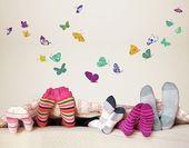 Wandtattoo »Bunte Schmetterlinge«