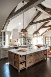 65+ Lovely Modern Farmhouse Kitchen Decor Ideas