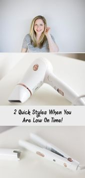 2 Quick Styles When You Are Low On Time! – Hairstyle Quick Hairstyles when you a…