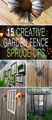 15 Ideen für kreative Gartenzäune und Aufputschmittel