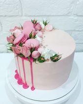 Pastel con flores frescas – pasteles – #flores #frescos # pasteles #con #pastel …   – Torten