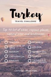 TOP 10 Travel List: Turkey ~ Travel Challenge ~ W …