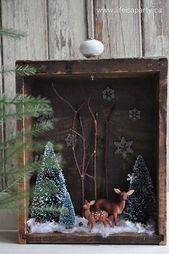 Winterdioramen sind im Moment ein großer Trend und unser Weihnachtsherz