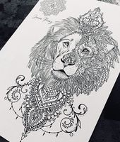 Löwe Tattoo Design