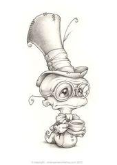 Grimley Manchester the First Ein prahlerischer Zollwurm, der sehr weit gereist ist, um – Inspirationen