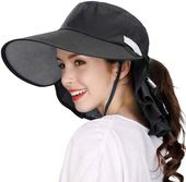 Large head women packable wide brim spf sun hat bucket travel summer chin strap 58-60cm – Products