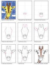 Wie zeichnet man ein Giraffen-Tutorial. Kunstproje…