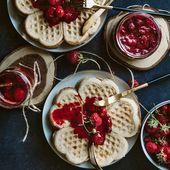 Leicht vorbereitete Waffeln – Color Photo Pinterest – #DessertsundSüßigkeiten …