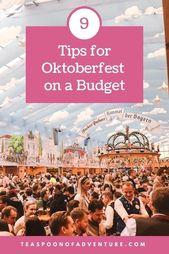 9 Tipps für das Oktoberfest mit kleinem Budget