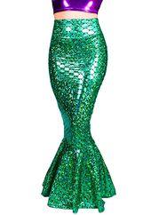 X-Large, Black Sidecca Faux Leather Wet Look Metallic Mermaid Costume Maxi Skirt