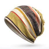 Fashion Brand Striped Hats For Men Women Hip Hop Beanies Skullies Unisex Slouchy Cap Z-5088 – Caps & hats& fedoras