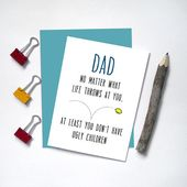 Funny Dad Cards – Father's Day Cards for Dad From Daughter – From Kids – Birthday Cards for Dad – Sa