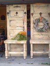 Pläne & Anleitungen für DIY-Möbel: Einige weitere Sitze aus altem Massivholz