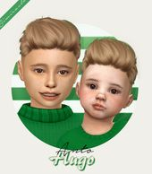 sims 4 cc // custom content child toddler boy male hairstyle // Anto Hugo
