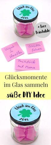 #für #Freund #oder  DIY Idee für den Freund oder die Freundin: Glück im Glas …