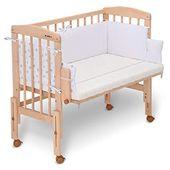 FabiMax Beistellbett PRO mit Matratze CLASSIC und Nestchen Sterne klein, weiß -…  – Babyzimmer ideen