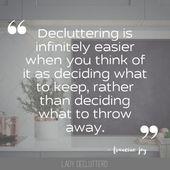 50 Inspirational Decluttering Quotes – #decluttering #inspirational #quotes – #I… – Influential Quotes