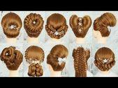 TOP 10 einfache und elegante Frisuren mit Haar-Tools | Clutcher Frisuren | Ungesehene Party Frisuren - YouTube - #clutcher #elegant #hairstyles #tools