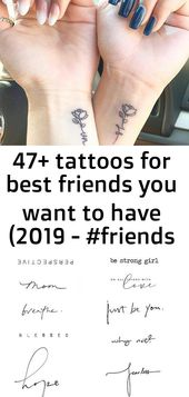 47+ tattoos for best friends you want to have (2019 – #friends #symbol #tattoos 1